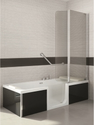 sfa saniduo badewanne mit t r 160x75cm g nstiges bad de. Black Bedroom Furniture Sets. Home Design Ideas