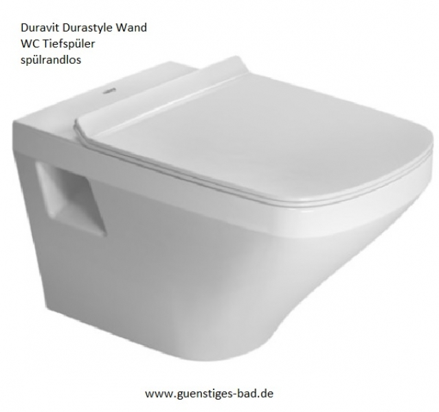 duravit durastyle wand wc ohne sp lrand wondergliss g nstiges bad. Black Bedroom Furniture Sets. Home Design Ideas