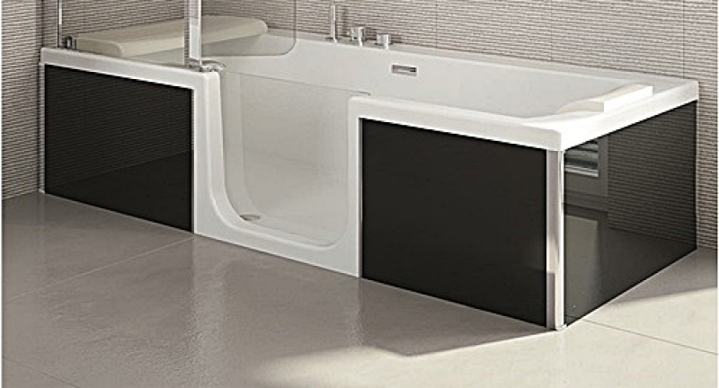 sfa saniduo 4 badewanne mit t r 180cm g nstiges bad. Black Bedroom Furniture Sets. Home Design Ideas