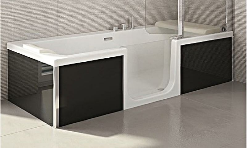 sfa saniduo badewanne 160x75cm mit t r g nstiges bad. Black Bedroom Furniture Sets. Home Design Ideas